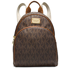 Buy MICHAEL Michael Kors Jet Set Small Backpack, Brown Online at johnlewis.com