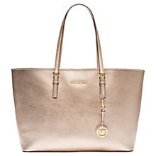 Buy MICHAEL Michael Kors Jet Set Travel Medium Leather Tote Bag Online at johnlewis.com