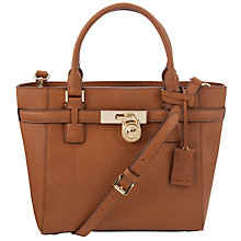 Buy MICHAEL Michael Kors Hamilton Medium Leather Tote Bag, Luggage Online at johnlewis.com