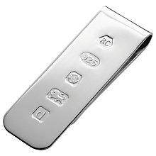 Buy Carrs Feature Hallmark Money Clip, Sterling Silver Online at johnlewis.com
