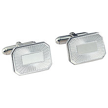 Buy Carrs Sunrise Engraved Rectangle Cufflinks, Sterling Silver Online at johnlewis.com