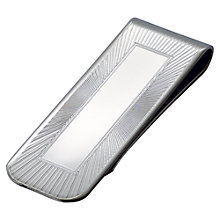 Buy Carrs Sunrise Engraved Sterling Silver Money Clip Online at johnlewis.com