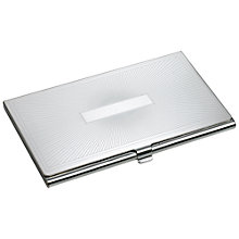 Buy Carrs Sunrise Engraved Card Holder, Sterling Silver Online at johnlewis.com