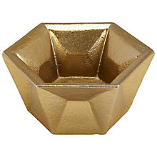 Buy Tom Dixon Gem Tealight Holder, Gold Online at johnlewis.com