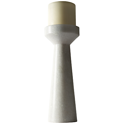Tom Dixon White Stone Candle Holder, Tall