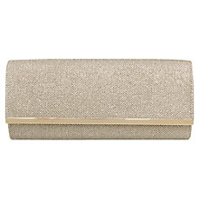 Buy Miss KG Tamera Glitter Clutch, Gold Online at johnlewis.com