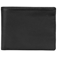 Buy Launer Leather Billfold Wallet, Black Online at johnlewis.com