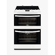 Buy Zanussi ZCI68300WA Induction Hob Electric Cooker, White Online at johnlewis.com