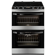 Buy Zanussi ZCI68300XA Induction Hob Electric Cooker, Stainless Steel Online at johnlewis.com