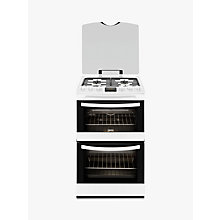 Buy Zanussi ZCG43200WA Gas Cooker, White Online at johnlewis.com