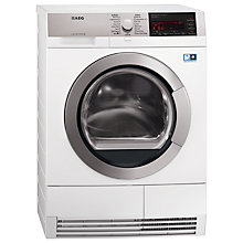 Buy AEG T96695IH ProTex Plus Heat Pump Condenser Tumble Dryer, 9kg Load, A++ Energy Rating, White Online at johnlewis.com
