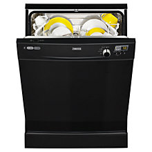 Buy Zanussi ZDF14001KA Freestanding Dishwasher, Black Online at johnlewis.com