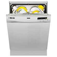Buy Zanussi ZDF14011XA Freestanding Dishwasher, Stainless Steel Online at johnlewis.com