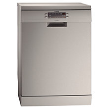 Buy AEG F66609M0P Freestanding Dishwasher, Stainless Steel Online at johnlewis.com