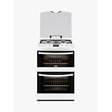Buy Zanussi ZCG63200WA Gas Cooker, White Online at johnlewis.com