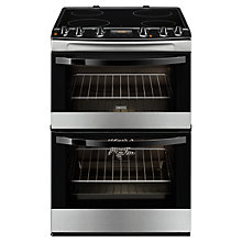 Buy Zanussi ZCV68300XA Electric Cooker, Stainless Steel Online at johnlewis.com