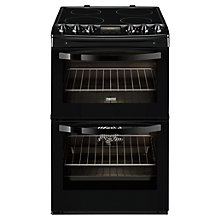 Buy Zanussi ZCV48300BA Electric Cooker, Black Online at johnlewis.com
