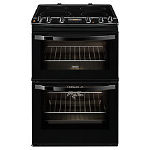 Buy Zanussi ZCI68300BA Induction Hob Electric Cooker, Black Online at johnlewis.com