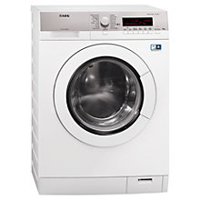 Buy AEG L87485FL Washing Machine, 8kg Load, A+++ Energy Rating, 1400rpm Spin, White Online at johnlewis.com