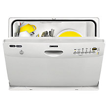 Buy Zanussi ZDM16301SA Compact Freestanding Dishwasher, Silver Online at johnlewis.com
