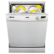 Buy Zanussi ZDF14001SA Freestanding Dishwasher, Silver Online at johnlewis.com