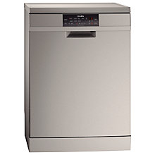 Buy AEG F88709M0P Freestanding Dishwasher, Stainless Steel Online at johnlewis.com