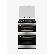Buy Zanussi ZCG63200XA Gas Cooker, Stainless Steel Online at johnlewis.com
