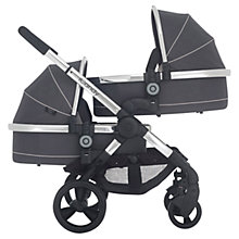 Buy iCandy Peach Blossom 3 Twin Pushchair with Chrome Chassis and Truffle Hood Online at johnlewis.com