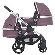 Buy iCandy Peach Blossom 3 Twin Pushchair with Chrome Chassis and Marshmallow Hood Online at johnlewis.com