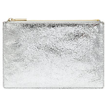 Buy Whistles Medium Cracked Metallic Clutch, Silver Online at johnlewis.com