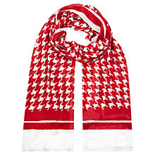Buy Hobbs Houndstooth Scarf, Red Ivory Online at johnlewis.com