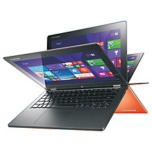 "Buy Lenovo Yoga 2 11"" Convertible Laptop, Quad-Core Intel Pentium, 4GB RAM, 500GB + 8GB SSHD, 11.6"" Touch Screen, Clementine Orange Online at johnlewis.com"