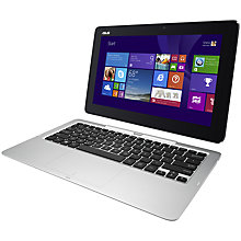 "Buy Asus Transformer Book T200TA Convertible Tablet Laptop, Intel Atom, 2GB RAM, 500GB + 32GB SSD, 11.6"" Touch Screen, Black Online at johnlewis.com"