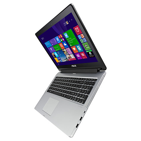 "Buy Asus Transformer Book Flip TP550LA Convertible Laptop, Intel Core i7, 8GB RAM, 750GB, 15.6"" Touch Screen, Black & Silver Online at johnlewis.com"
