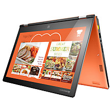 "Buy Lenovo Yoga 2 Convertible Ultrabook, Intel Core i3, 8GB RAM, 500GB + 8GB SSHD, 13.3"" Touch Screen, Clementine Orange Online at johnlewis.com"