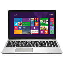"Buy Toshiba Satellite P50t-B-10T Laptop, Intel Core i7, 16GB RAM, 1TB, Blu-ray, 15.6"" 4K Ultra HD Touch Screen, Silver Online at johnlewis.com"