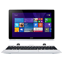 "Buy Acer Aspire Switch 10 Convertible Tablet Laptop, Intel Atom, 2GB RAM, 32GB eMMC, 10.1"" Touch Screen, Silver Online at johnlewis.com"