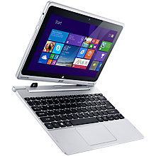 "Buy Acer Aspire Switch 10 Convertible Tablet Laptop, Intel Atom, 2GB RAM, 32GB eMMC + 500GB HDD, 10.1"" Touch Screen, Silver Online at johnlewis.com"