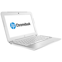 "Buy HP Chromebook 11-2000na, Samsung Exynos, 2GB RAM, 16GB eMMC, 11.6"", White Online at johnlewis.com"