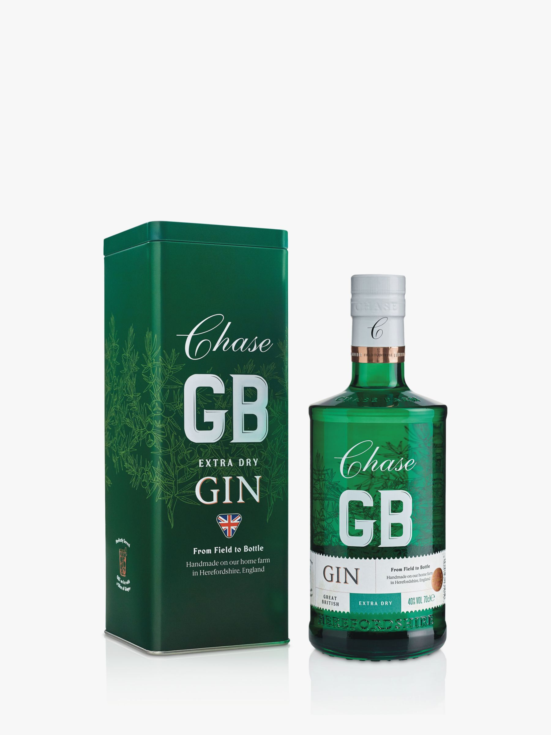 Chase Chase Extra Dry Gin in Racing Green Tin, 70cl