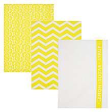 Buy John Lewis Pancake Day Tea Towels, Set of 3 Online at johnlewis.com