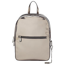 Buy DKNY Fashion Mirror Leather Backpack, Silver Online at johnlewis.com