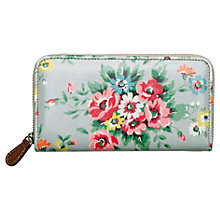 Buy Cath Kidston Folk Flowers Zip Wallet,  Grey Online at johnlewis.com