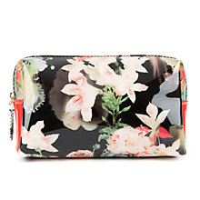 Buy Ted Baker Ofanto Opulent Bloom Small Washbag, Black Online at johnlewis.com
