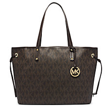 Buy MICHAEL Michael Kors Reversible Tote Bag, Brown Online at johnlewis.com