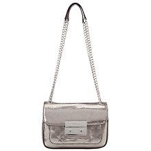 Buy MICHAEL Michael Kors Sloan Leather Shoulder Bag, Black Nickle Online at johnlewis.com
