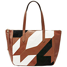 Buy Fossil Sydney Leather Patchwork Shopper Bag, Multi Online at johnlewis.com