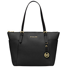 Buy MICHAEL Michael Kors Jet Set Large Leather Tote Bag Online at johnlewis.com