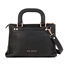 Buy Ted Baker Hickory Stab Stitch Leather Across Body Bag Online at johnlewis.com
