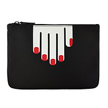 Buy Lulu Guinness Hands Pouch, Black Online at johnlewis.com